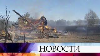 Только за сутки в российских регионах в результате природных пожаров сгорели десятки домов.