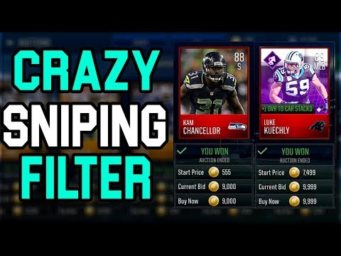 THIS SNIPING FILTER WILL MAKE YOU MILLIONS A DAY!! MADDEN MOBILE 18 SNIPING TUTORIAL!