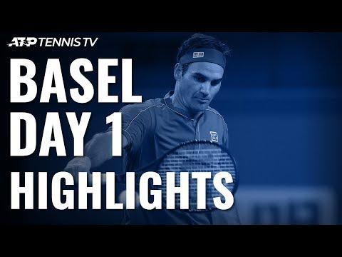 Federer Cruises Past Gojowczyk; Laaksonen Surprises Paire | Basel 2019 Highlights Day 1
