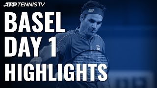 Federer Cruises Past Gojowczyk; Laaksonen Surprises Paire | Basel 2019 Highlights Day 1