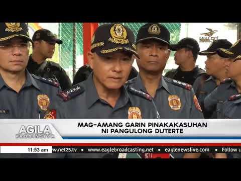 Mag-amang Garin pinakakasuhan ni Pangulong Duterte