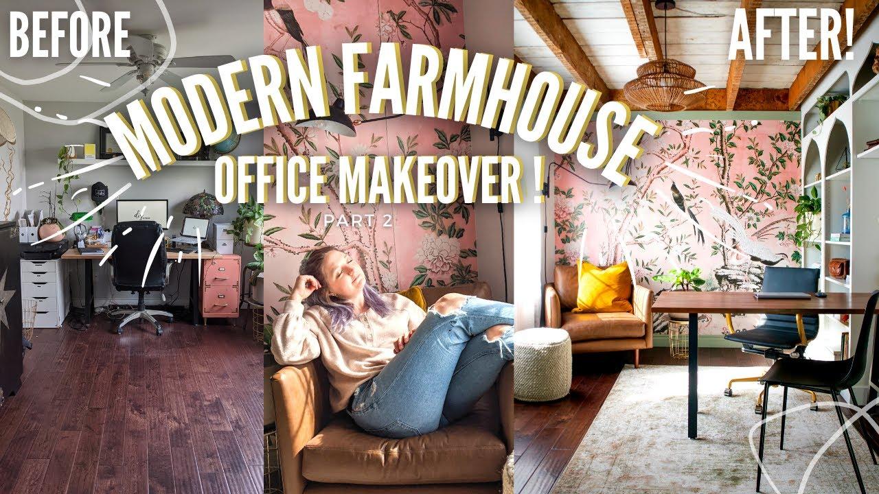 *Beautiful* Modern Farmhouse Office Makeover - PART 2 | Home Made Home | DIY Danie ✨