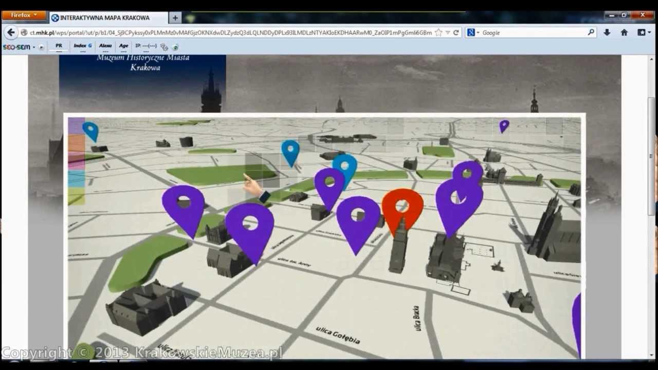 Interaktywna Mapa Krakowa Budynki Koscioly Wycieczki Youtube