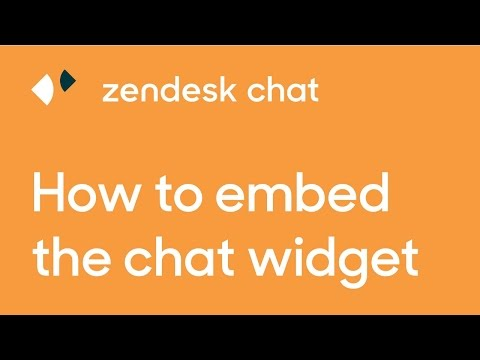 Embed The Zendesk Chat Widget