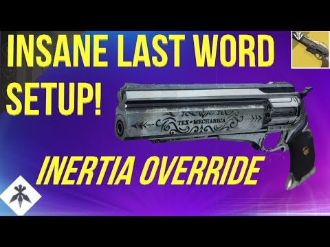 LAST WORD + INERTIA OVERRIDE IS CRAZY! DESTINY 2 BLACK ARMORY thumbnail
