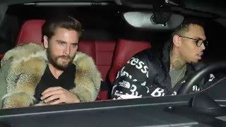 scott disick and chris brown party together at hollywood club   splash news tv   splash news tv