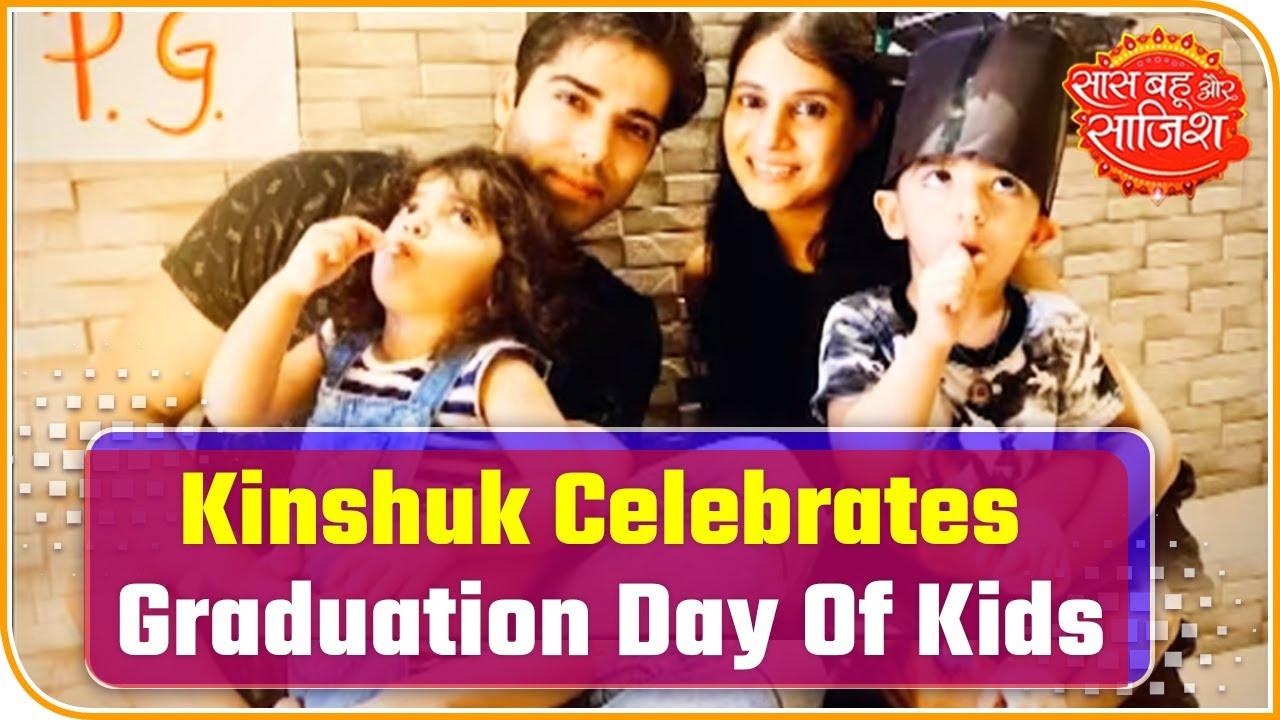 Download Kinshuk Mahajan Celebrates Graduation Day Of Kids   Saas Bahu Aur Saazish