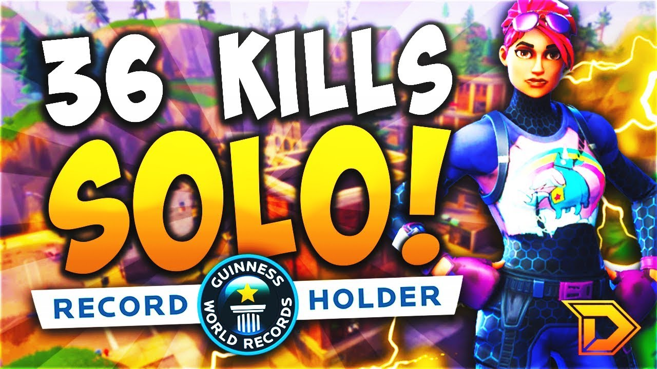 36 Kills Solo World Record Fortnite Battle Royale Gameplay Most