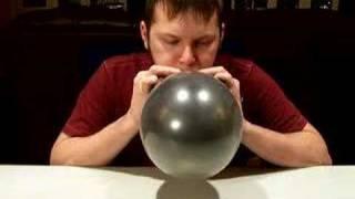 Black Balloon Burst with a Twist