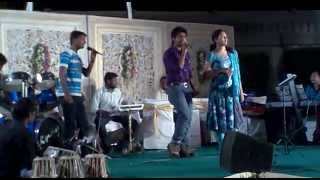 Download Hindi Video Songs - Geetha Madhuri and Revanth singing in a show
