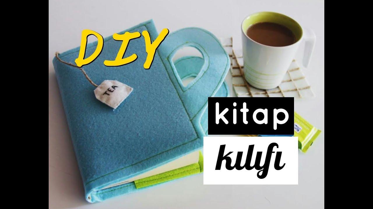 Diy Felt Book Cover ~ Kendin yap keçeden kitap kılıfı diy felt book cover