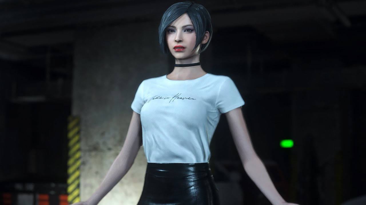 Resident Evil 2 Remake mod Ada T-shirt with Skirt outfit