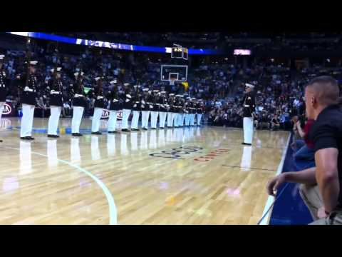 Marine Corps Silent Drill Platoon Stun A Packed Arena