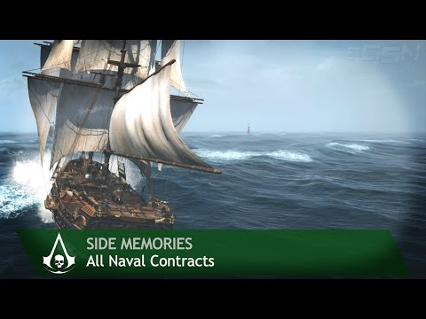 Assassin's Creed 4: Black Flag - Side Memories - All Naval Contracts