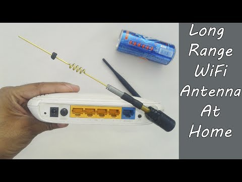 How To Make Powerful Long Range Wifi Antenna At Home / High Gain Wifi Antenna Diy