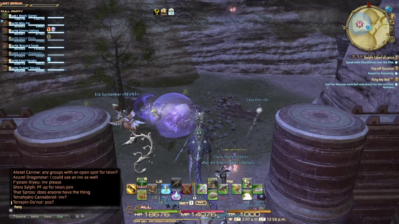When hunting ffxiv ixion, dont be flying and low lvl XD