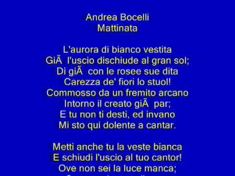 Mattinata (L'aurora di bianco vestita) - Andrea Bocelli