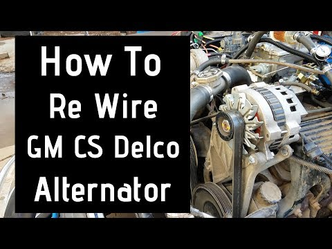 [DIAGRAM_1CA]  Alternator wiring gm - YouTube | Delco Remy Cs130 Alternator Wiring Diagram |  | YouTube