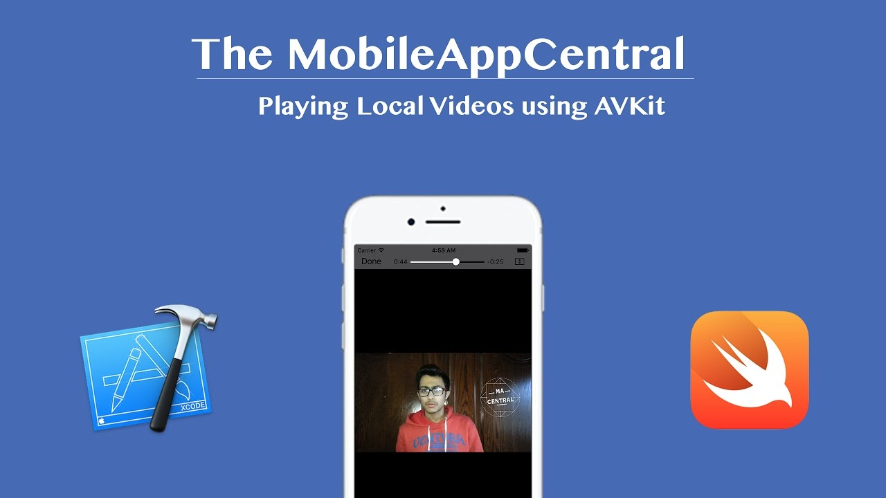 Playing Local Videos using AVKit! (Xcode 8 : Swift 3)