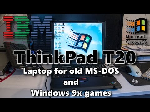 IBM Thinkpad T20 - Laptop for old MS-DOS and Windows 9x games