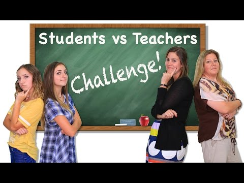 Students vs Teachers Challenge | Brooklyn and Bailey