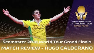 Hugo Calderano knocks out Fan Zhendong | 2018 ITTF World Tour Grand Finals