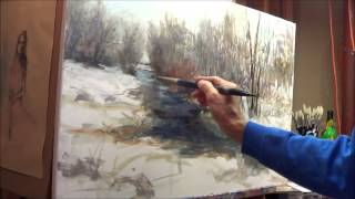 Oil Painting winter scene with Michael Pintar