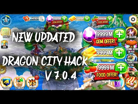 DRAGON CITY HACK/MOD LATEST 2018 APK (UNIMITED FOOD, GOLD AND GEMS, NO ROOT)