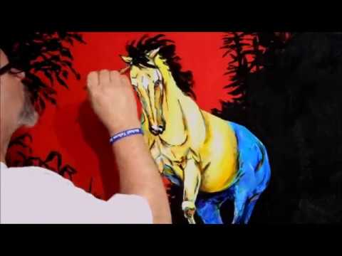 "Michael Tolleson, Autistic Savant Artist creates ""Leaving The Herd""  in Minutes"