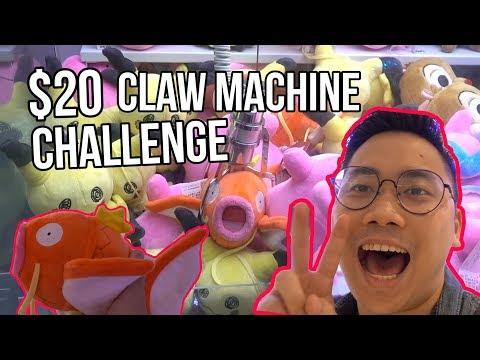 $20 Claw Machine CHALLENGE! - Arcade Ninja