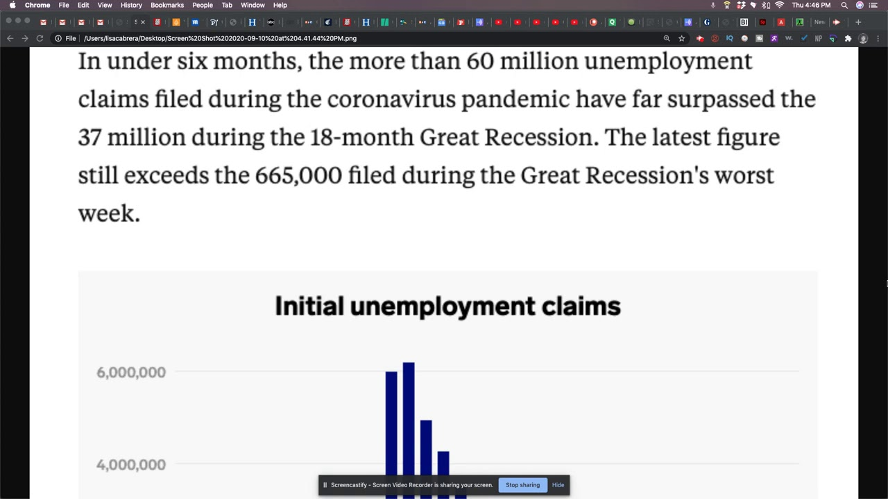 Sixty Million Unemployment Claims In 6 Months