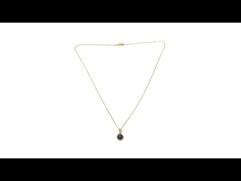 1b6ce60c0ff3f .30ctw Cognac White Diamond 10K Gold Pendant w/ Chain