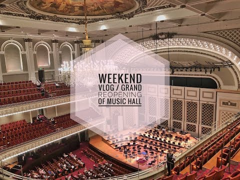 🎼Weekend Vlog | Grand Reopening of Music Hall🎻