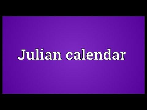 Julian calendar Meaning