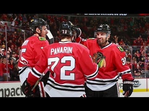 Panarin buries one-timer off Kane's sweet pass