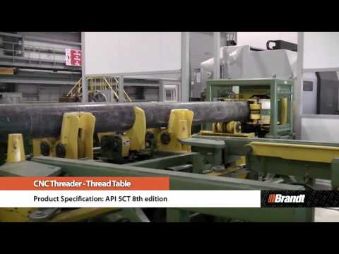 Brandt CNC Threader - Thread Table