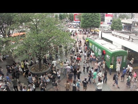 Shibuya Station Hachiko Exit in Tokyo on August, 2017 (東京 渋谷駅ハチ公前2017年8月)