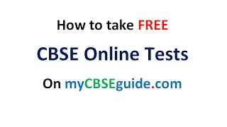 how to take CBSE online tests