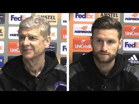 Arsene Wenger & Shkodran Mustafi Pre-Match Press Conference - CSKA Moscow v Arsenal - Europa League