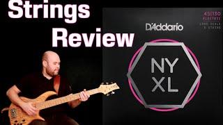 D'addario brand new NYXL Bass strings exclusive review // Видеообзор новых басовых струн