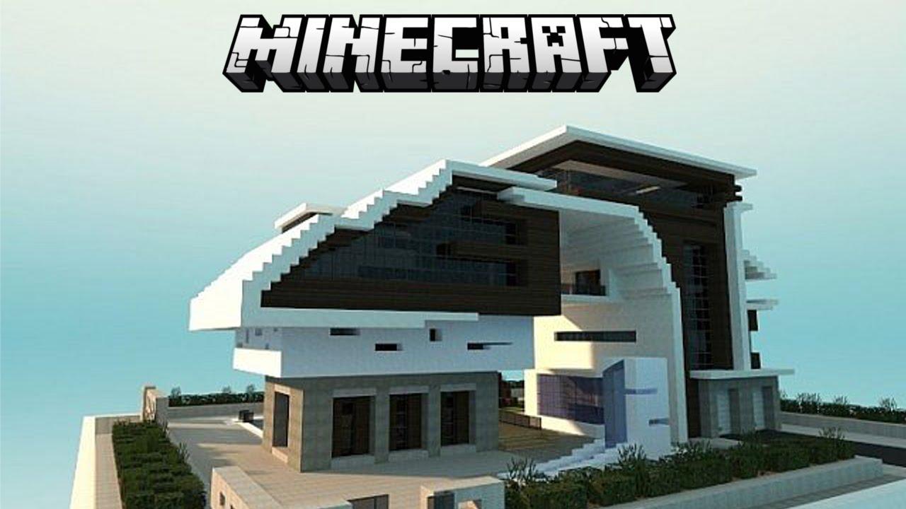 Minecraft insane modern house tutorial part 2 2015 1 8 for Modern house 7 part 2