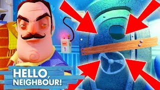 Hello Neighbor 'HOW TO GET IN THE BASEMENT' (Cheats) (Hello Neighbour Ending, Neighbor Horror Game)