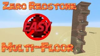 Multiple Floor Elevator No Redstone EASY & FAST | How To Build An Elevator In Minecraft  | Fast Lift