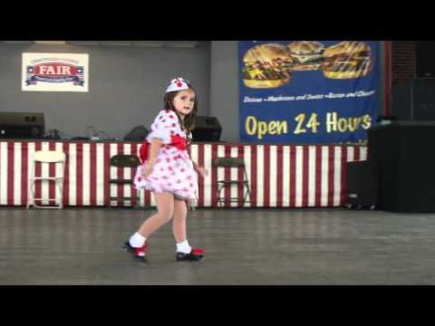 Four year old Ava performs Shirley Temple tap solo- Animal Crackers In My Soup