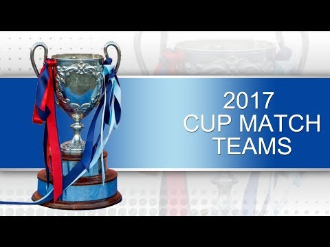 2017 Cup Match Teams Announced, July 2017