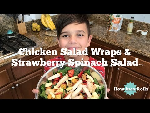 Meal Preps | Chicken Salad Wraps | Spinach Strawberry Salad | Plus Some Speed Cleaning