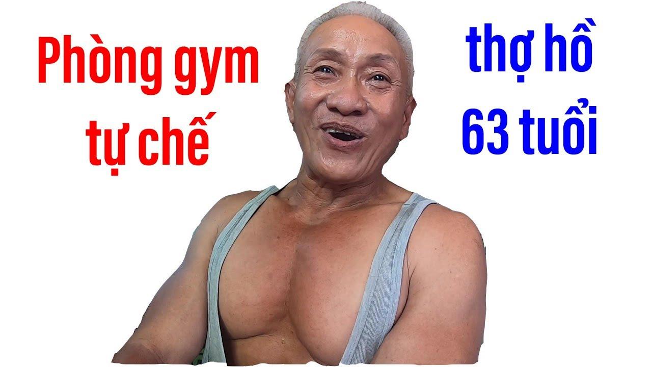 Vào phòng gym tự chế của thợ hồ 63 tuổi, vóc dáng như lực sĩ II ĐỘC LẠ BÌNH DƯƠNG