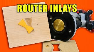 How to Make a Plunge Router Inlay with Wood Router Bushings