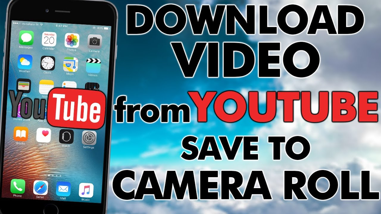 How to download videos from youtube and save it to camera roll no how to download videos from youtube and save it to camera roll no jailbreak ccuart Image collections