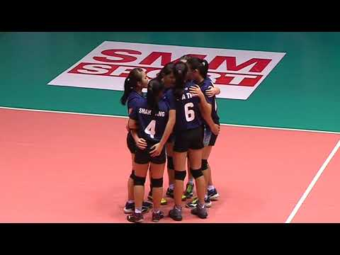 HL  SMM 12th Asian Est Cola Women's U17 Volleyball Championship / IND vs MAS